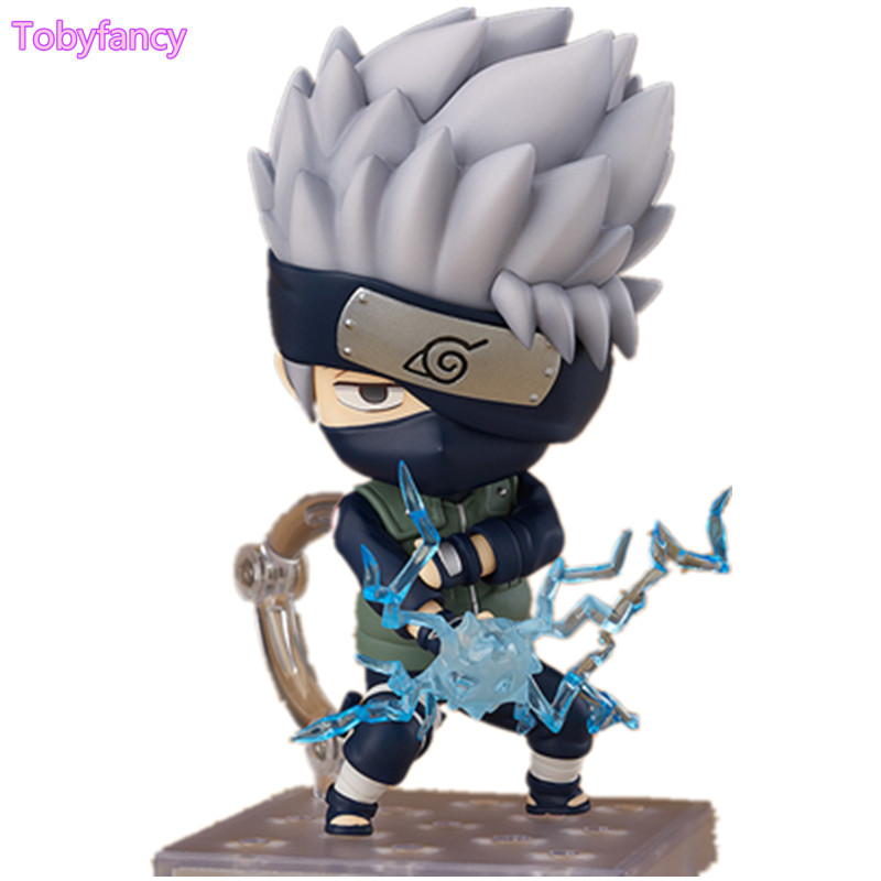 Anime Naruto Shippuden Figure Hatake Kakashi Nendoroid PVC 10CM KAKASHI Collection Model Toy Figurine original box anime naruto action figures lightning blade hatake kakashi figure pvc model 12cm collection children baby kids toys