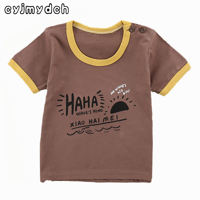 Cyjmydch Summer fashion Childrens T-Shirt cotton Boys Girls t shirt kity cotton T-Shirt tops Tees children clothing