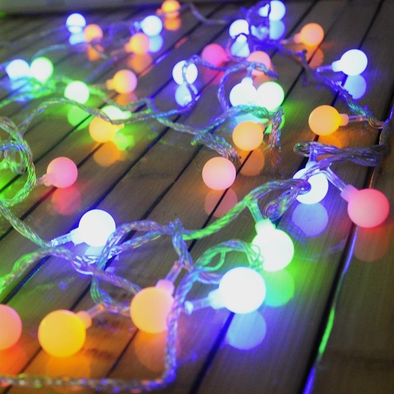 Luminaria Batteri 20 LED Kirsebærboller Stringslampe Christmas Fairy lights for Home utendørs / Wedding Party Garland Decorations