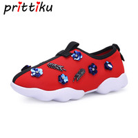 Toddler Girl Fashion Sneakers Little Kid Glitter Sequin Studded Loafers Children Spring Summer Autumn Red Designer Boat Shoes