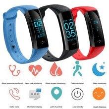 M2S Smartband Sono Monitor de Freqüência Cardíaca Do Bluetooth Chamada Lembrete Mensagem Tempo de Exibição Pulseira Esporte Inteligente Android pk mi banda 2