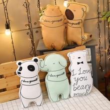 New 1pc Soft Animal Cartoon Pillow Cushion Cute Panda Bear  Dog Cat Plush Toy Stuffed  Kids Birthyday Gift Christmas Presents недорого