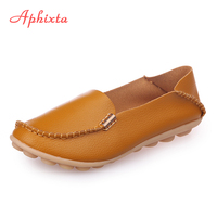 Aphixta Soft Leather Flats Women Shoes Metal Casual Flat With Non Slip Outdoor Shoes Yellow Black