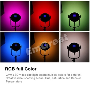 Image 2 - GVM RGB 150S COB RGB 풀 컬러 LED 비디오 라이트 CRI 95 + TLCI 95 + 바이 컬러 2000K 5600K 디 밍이 가능한 사진 용 비디오 스튜디오 DSLR