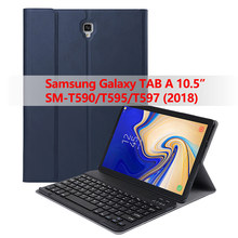 Bluetooth Keyboard case for Samsung Galaxy Tab A 10.5 2018 SM-T590/T595/T597 Tablet,Detachable Bluetooth Wireless Keyboard Case wireless bluetooth keyboard case cover for galaxy tab p1000