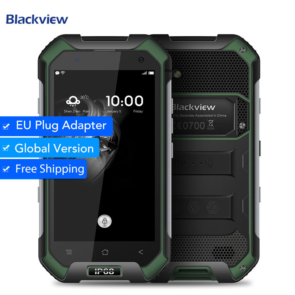 Blackview BV6000 IP68 Waterproof 4.7 inch Screen 4G Cell Phone MTK6755 Octa Core 3G RAM 32G ROM 13.0MP Mobile Phone