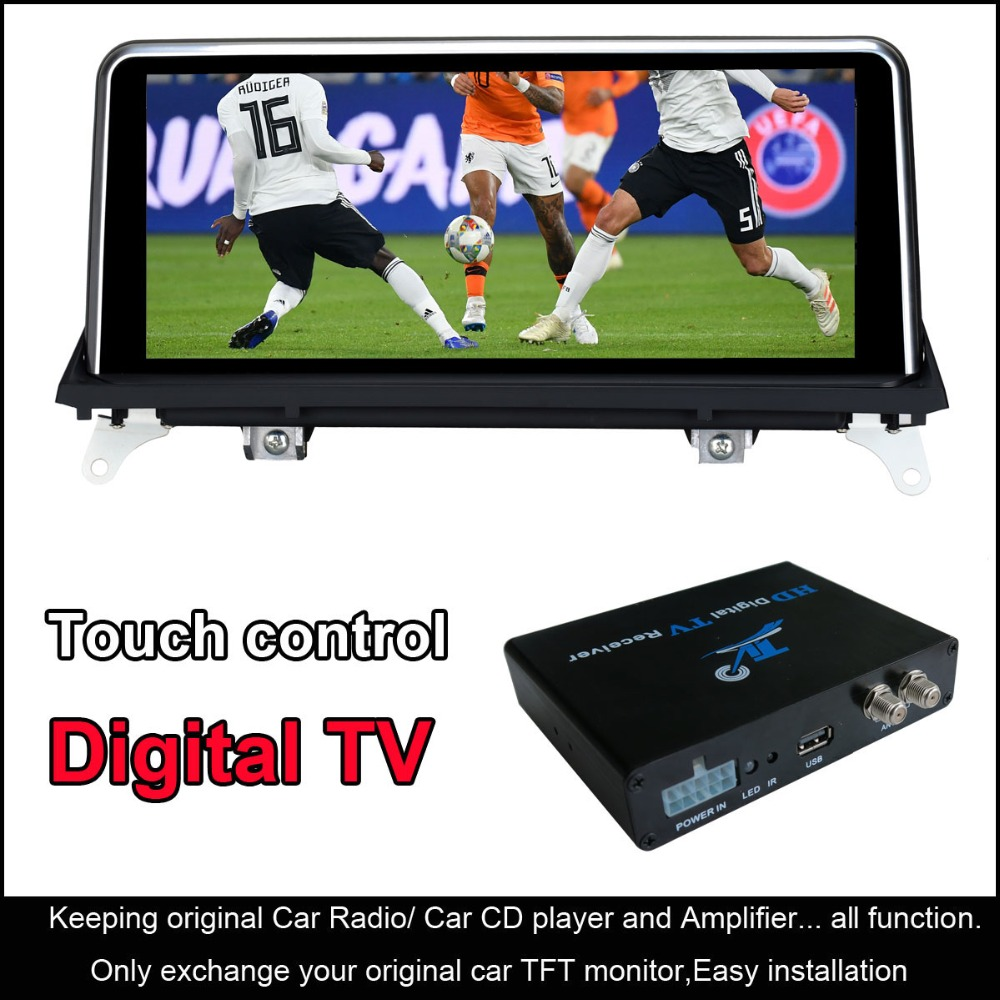 10.25 pollici Android 8.1 GPS Car Audio per BMW X5 E70 (2007-2013) /BMW X6 E71 (2007-2014) con funzione TV Digitale HD