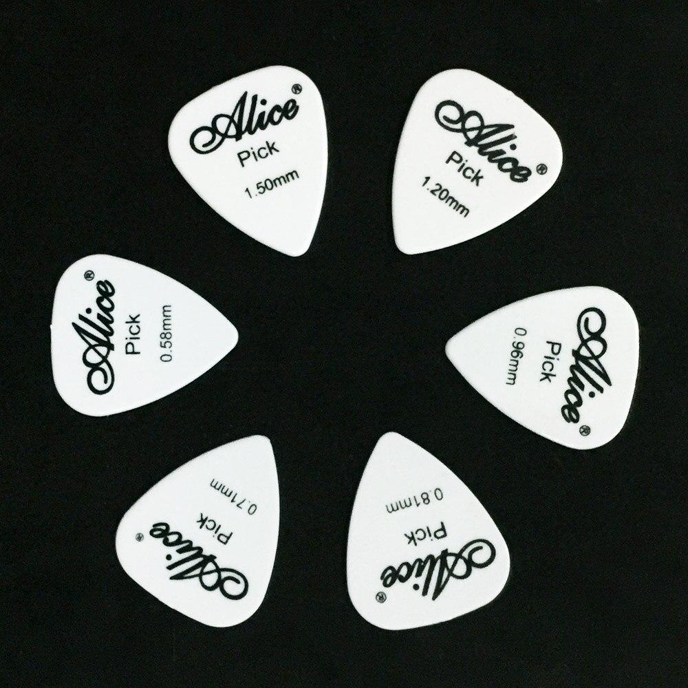 6 Stück Alice Gitarrenpicks in 1 Farbe in voller Dicke 0,58 0,71 - Musikinstrumente - Foto 6