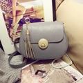 3 Color high quality PU leather women bag fashion tassel chain women's shoulder bag zipper hasp crossbody bag for women