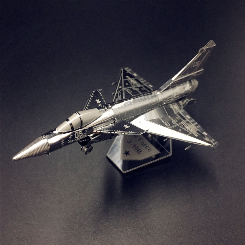 MMZ MODEL NANYUAN 3D Metal Model Kit AIR FORCE J-10B Chinese Modern Military Equipment Assembly Model DIY 3D Laser Cut Model