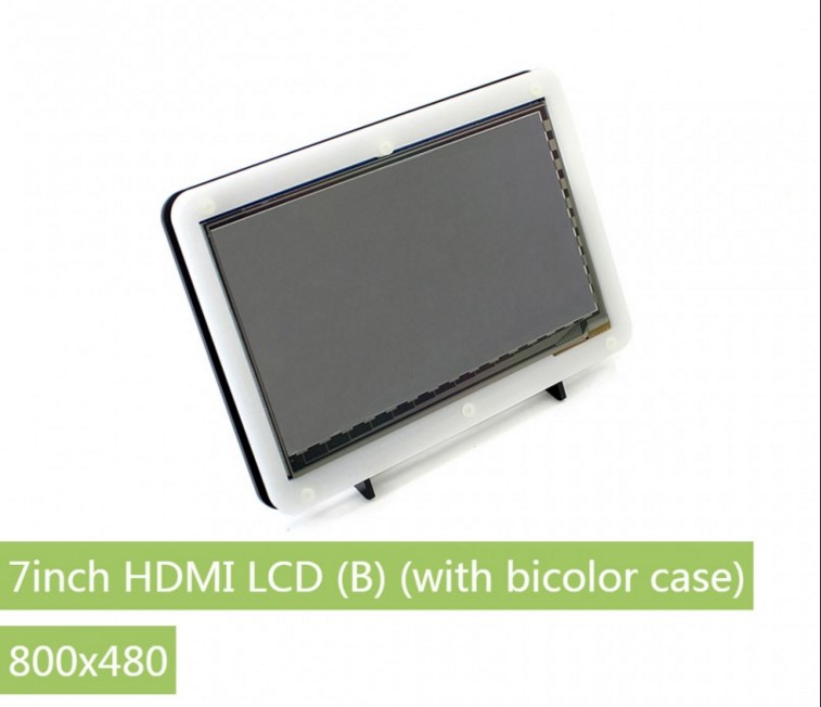 7inch HDMI LCD (B) + Bicolor Case 800X480 Capacitive Touch Cont For RPi 2 B/3 B/ Banana Pi BeagleBone Black
