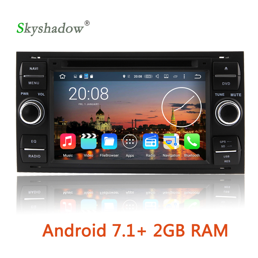 Android 7 1 4 core 2g ram car dvd multimedia player radio gps map wifi bt tv