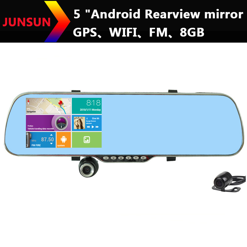 Best HD 5 Inch GPS Navigation Android Rearview Mirror FHD