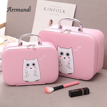 Arsmundi Women Man Cosmetic Bag Professional Travel Set Cube