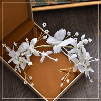 Coreano noiva headwear handmade fios de seda branco hoop Faixa de Cabelo Borboleta acessórios do casamento Jóias de Casamento fotos de Estúdio