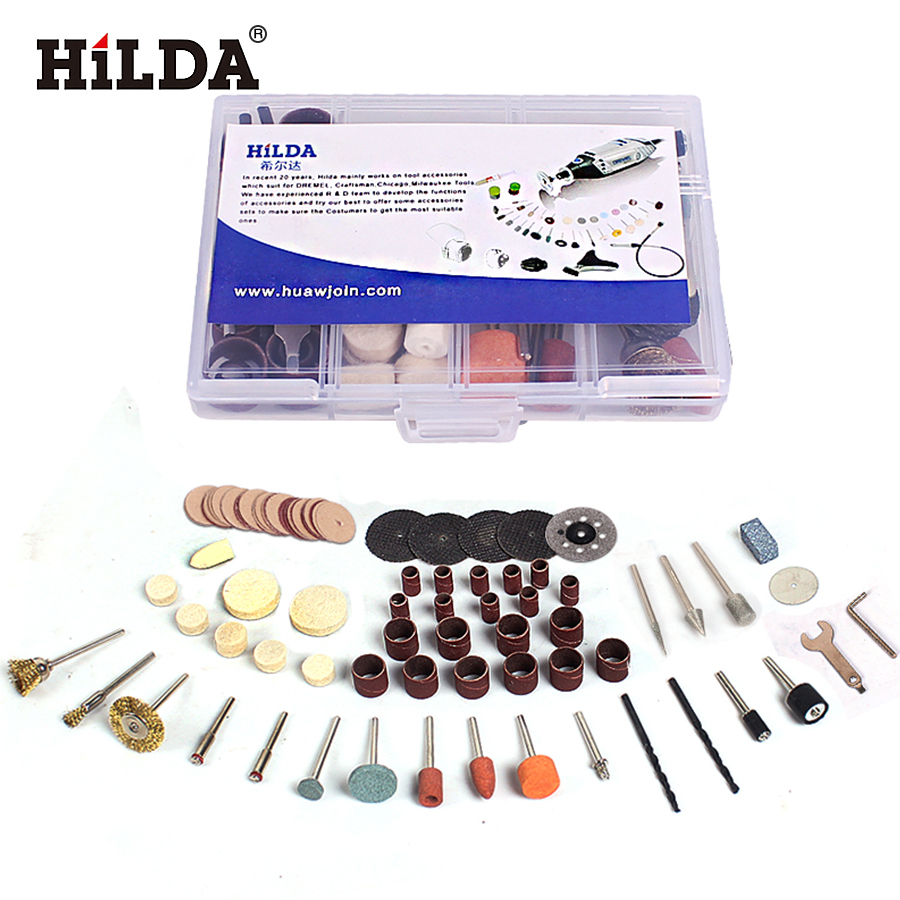 HILDA 92Pcs Wood Metal Engraving Electric Rotary Tool Accessory for Dremel Bit Set Grinding Polish Cutting