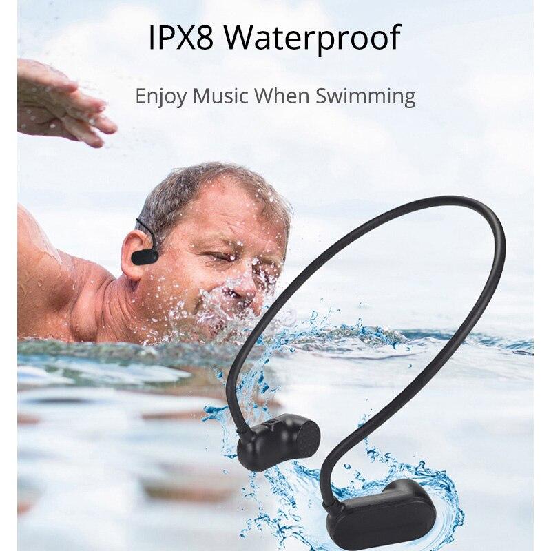 ISKAS écouteurs à Conduction osseuse écouteurs IPX8 natation Musica nouvelle technologie électronique dynamique 8 GB bonne basse Sport 3189