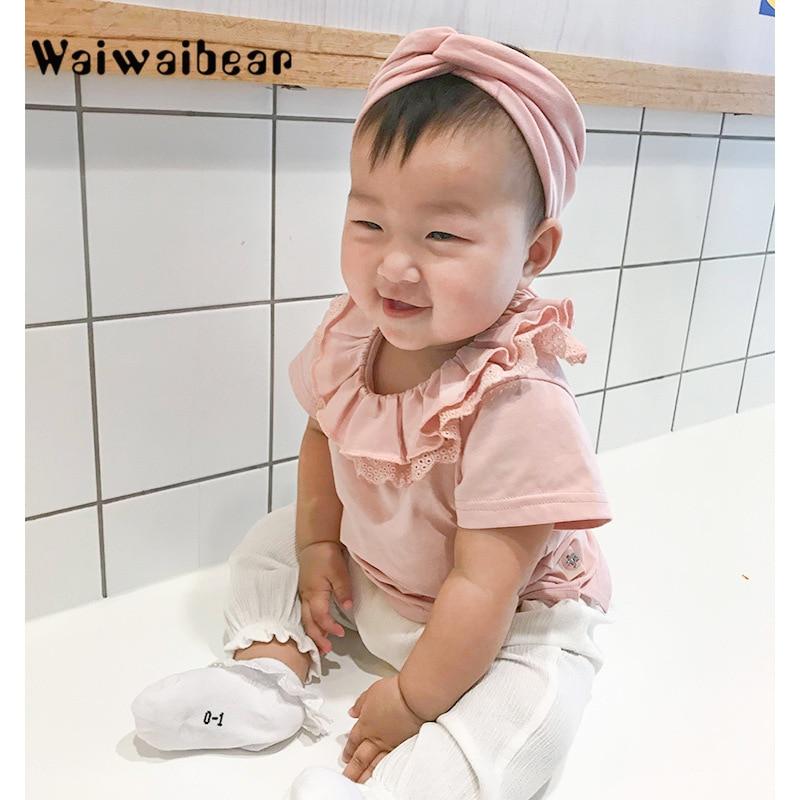 Wysokiej jakości bawełniane koszulki dla dzieci Baby Girl Casual - Odzież dla niemowląt - Zdjęcie 1