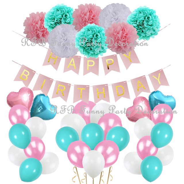 Pink Gold Birthday Party Decorations 1st First Girl Princess Ballerina Theme Wedding Baby Shower Favor Supplies