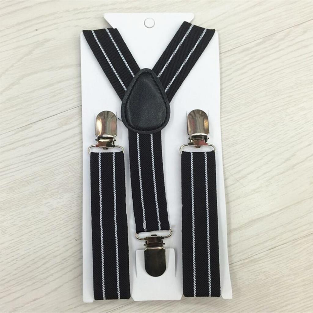 Vintage Striped Kids Suspenders Baby Boy Girl Children Clothing Accessories Suspenders