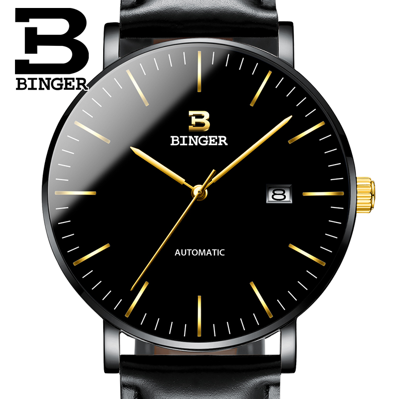 Switzerland BINGER Mens Watches Luxury Brand automatic mechanical Men Watch Sapphire Male Japan Movement reloj hombre B-5081M-10 wrist waterproof mens watches top brand luxury switzerland automatic mechanical men watch sapphire military reloj hombre b6036
