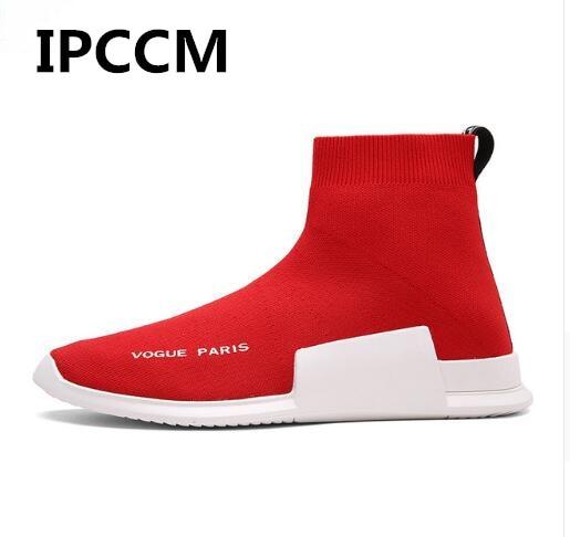 Misstap gray Armure Mannelijke Herfst Fashion red Sneakers Hiver Ipccm Fly Hoge Mens Casual Top Warme Black Schoenen Sok aAwXqWx4
