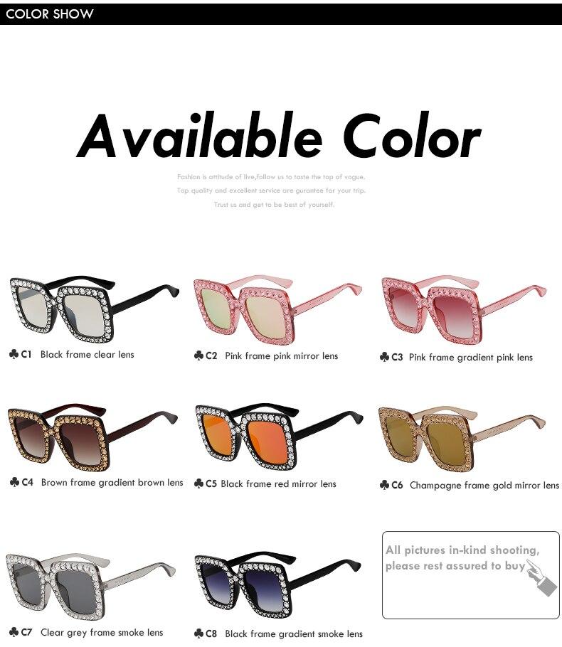 Crystal Rim Sunglasses Retro