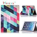 Venta caliente Mosunx Regalos Cuadrados De Colores Cubierta de la Caja Del Cuero Del Soporte Del Tirón Para el ipad Mini 1 2 3 Retina 1 UNID