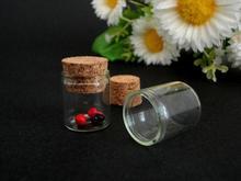 20pieces/lot fashion 4ml to 25ml cork glass mini bottles glass vial pendant
