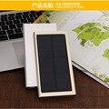 2016 10000 mah Ultra Fino Super Slim Matal Banco Energia Solar bateria externa usb carregador móvel para iphone6 6 s xiaomi mi5