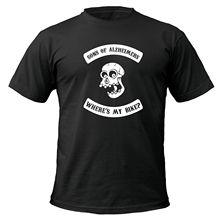 Sons Of Alzheimers Funny t-shirt, biker, old, wheres my bike, skull, joke Harajuku Tops Fashion Classic Unique free shipping