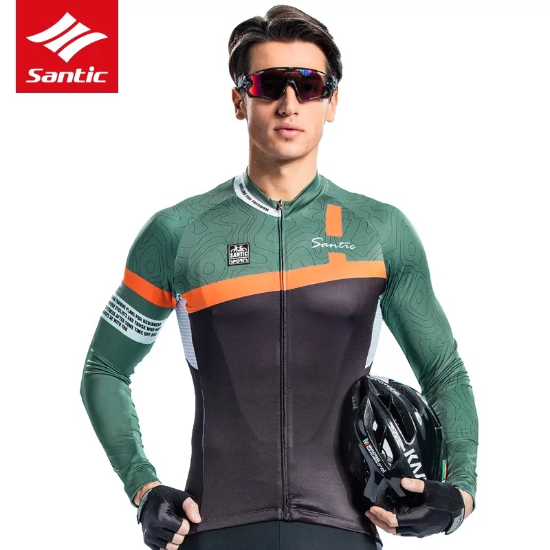 Santic 2018 New Men Cycling Jersey Quick Dry Bicycle Wear Pro Polyester Racing Bike Clothing Maillot Ciclismo Hombre M8C01090-in Cycling Jerseys from Sports & Entertainment    1