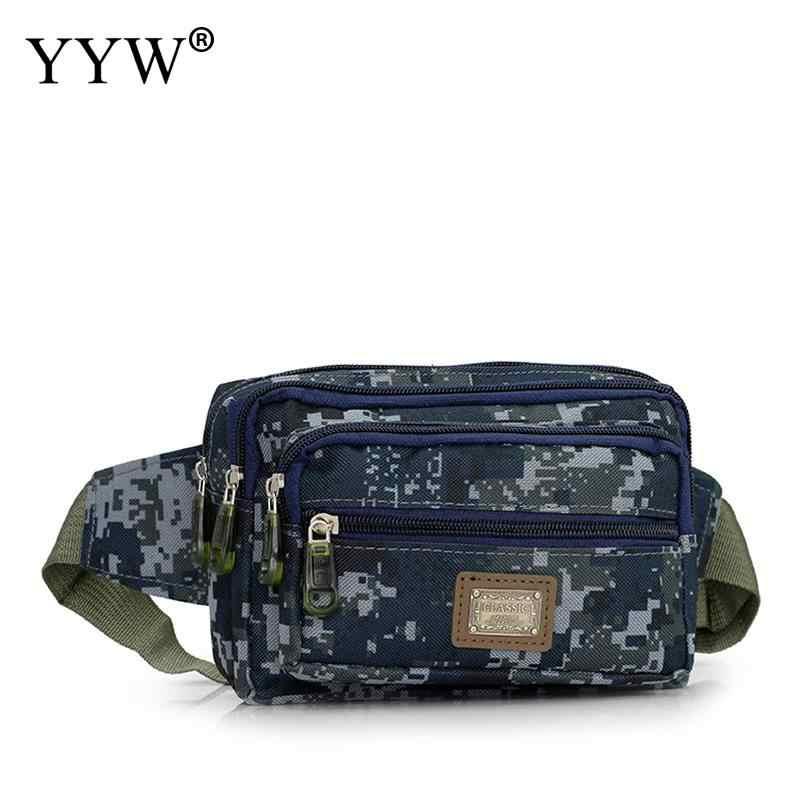 aff62e8a6149 Нейлоновая Мужская поясная сумка для денег поясная сумка мужская  камуфляжная поясная сумка больше карманов хип-