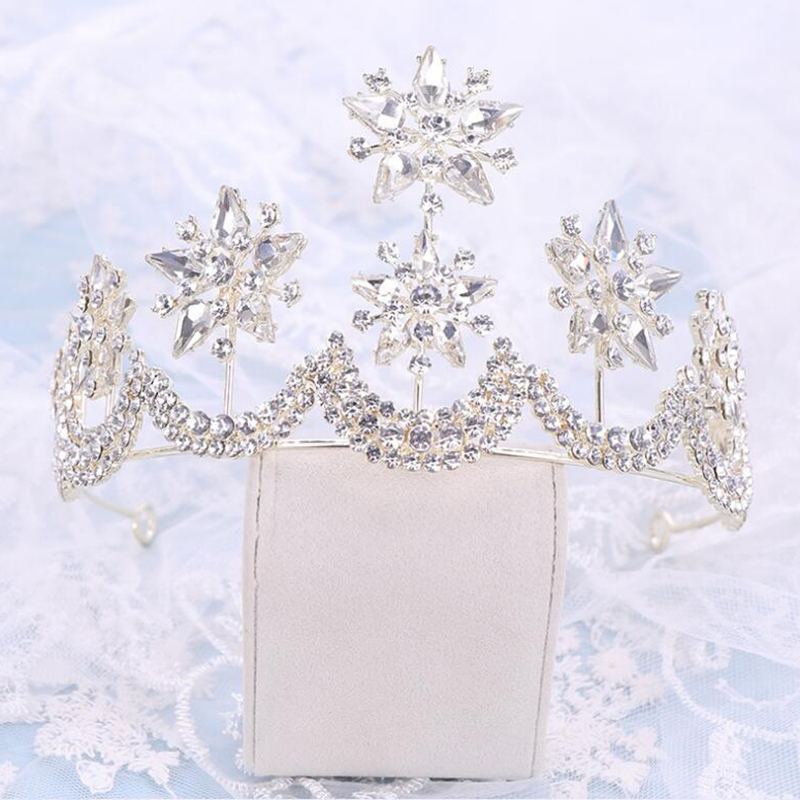 Gorgeous Crystal Princess Tiara Crown Headdress Elegant Bridal Wedding Dress Accessories Birthday Dinner Hair