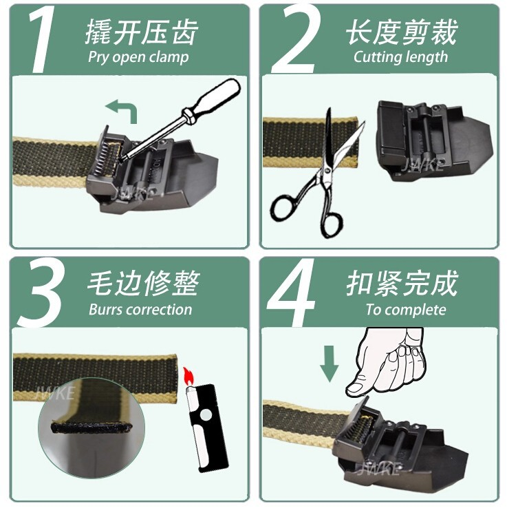 Fashion men's Canvas belt skull Metal tactics woven belt canvas belt Casual pants Cool wild gift for men belts Skull large size 24