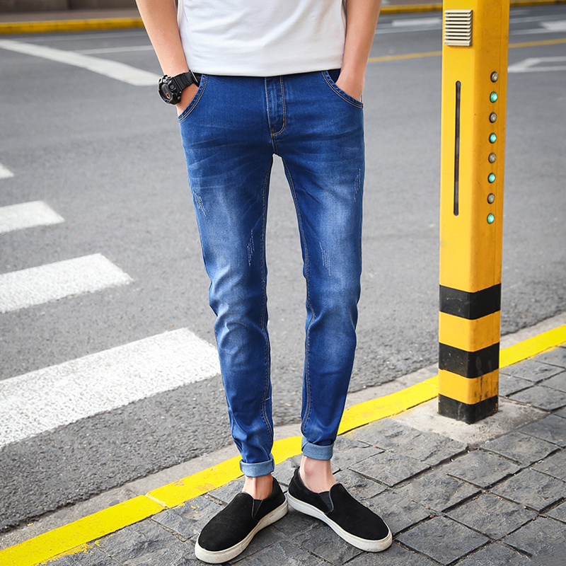 Summer New Stretch Cotton Breathable And Comfortable Jeans Fashion Casual Mens Lightweight Trousers Wholesale