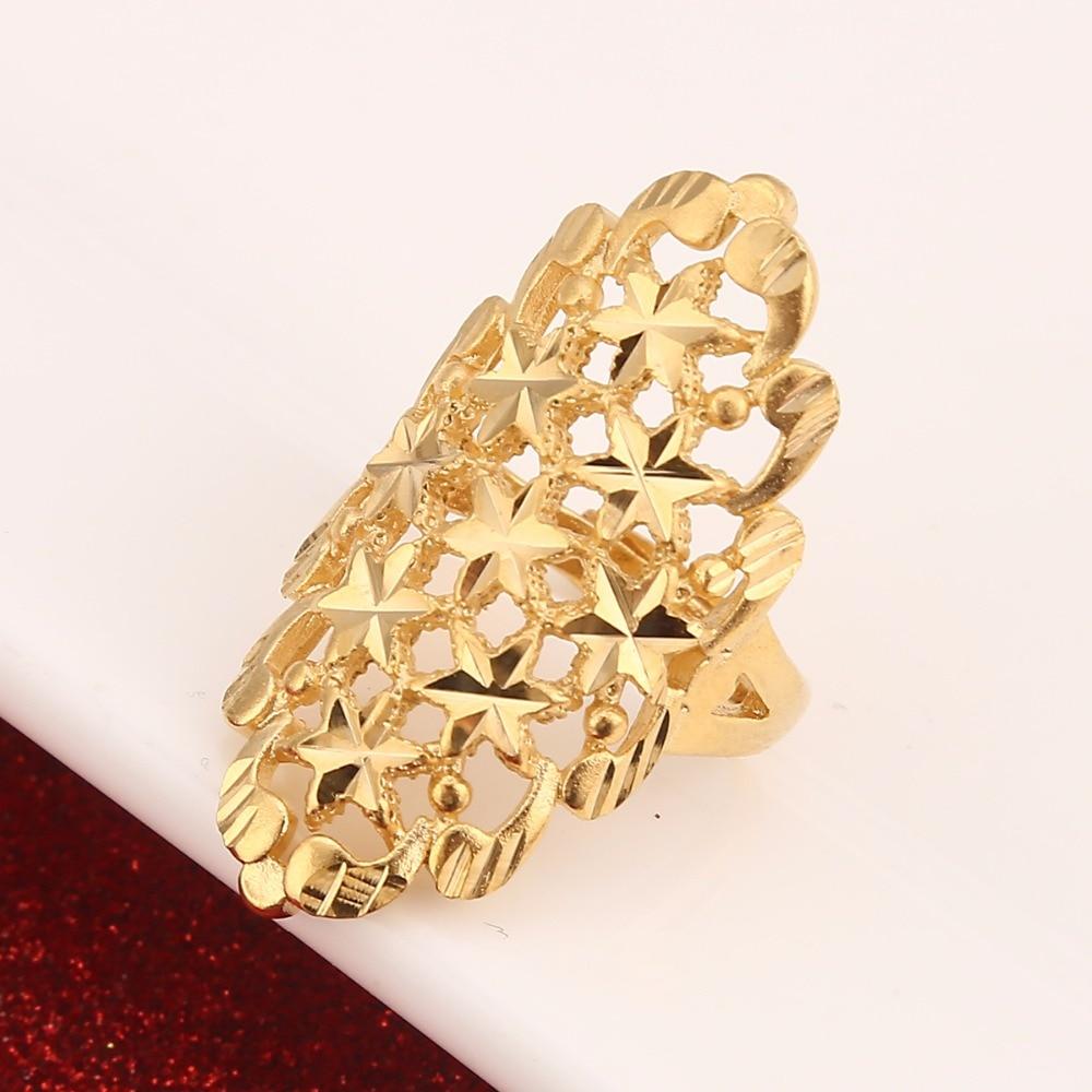 Золотое кольцо Дубая, обручальное кольцо золотого цвета с регулируемым размером для стандартного нигерийского дизайна
