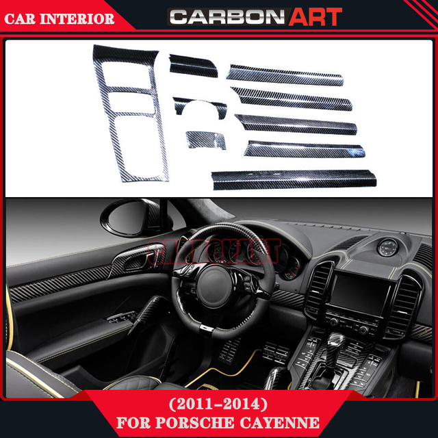 Voor Porsche Cayenne 958 Koolstofvezel Decoratie Interieur ...