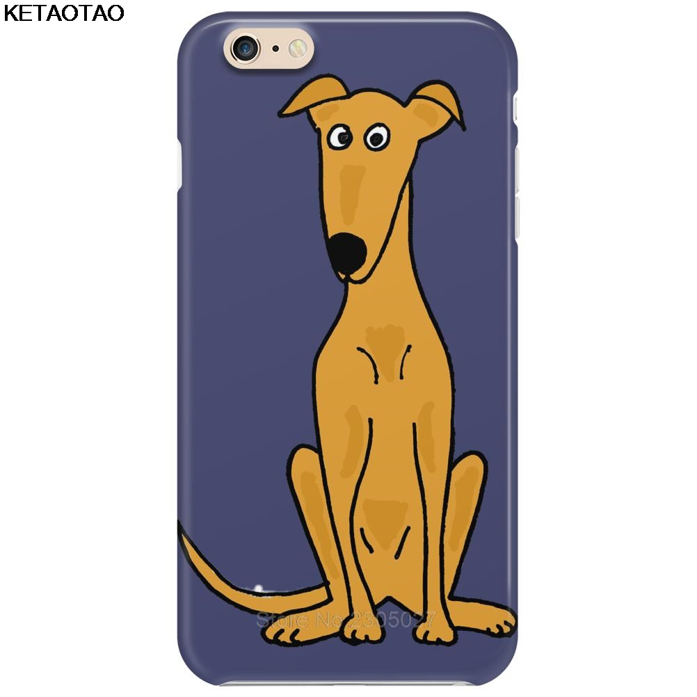 KETAOTAO Awesome Sitting Fawn Greyhound Dog Phone Cases for iPhone 4S 5 SE 5C 5S 6 6S 7 8 Plus X Case Soft TPU Rubber Silicone