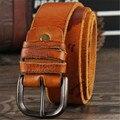 Cuero Genuino Del zurriago Correa masculina pin hebilla de Cinturones de marca hombres de lujo vintage jeans correa masculina homme ceinture cintos masculinos 9