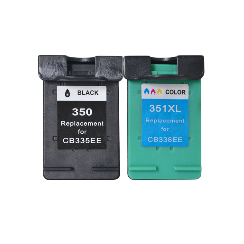 LuoCai Compatible ink cartridges For HP350 For <font><b>HP</b></font> 350 <font><b>351</b></font> Photosmart C4480 C4483 C4380 4480 Deskjet D4200 D4260 D4263 printer image