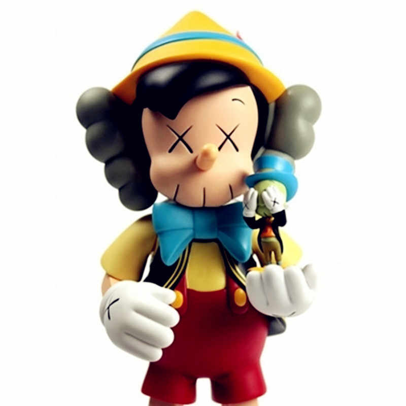 dadc67a2 ... KAWS Pinocchio Companion Jiminy Cricket Box Set New Medicom S159 ...