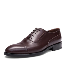 Sipriks Luxury Brand Mens Welted  Black Calf Leather Semi Brogue Pointed Toe Cap Shoes