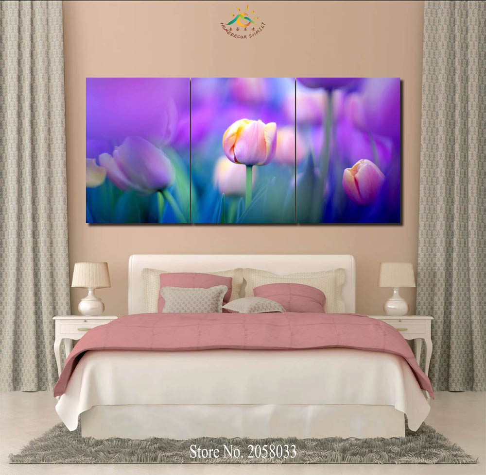 3 or 4 or 5 panelsset beautiful tulips modern home wall decor deals for art deco floral gardens decorative posters hd picture printed on canvas wall room painting print on canvas wall art home decor red solutioingenieria Gallery