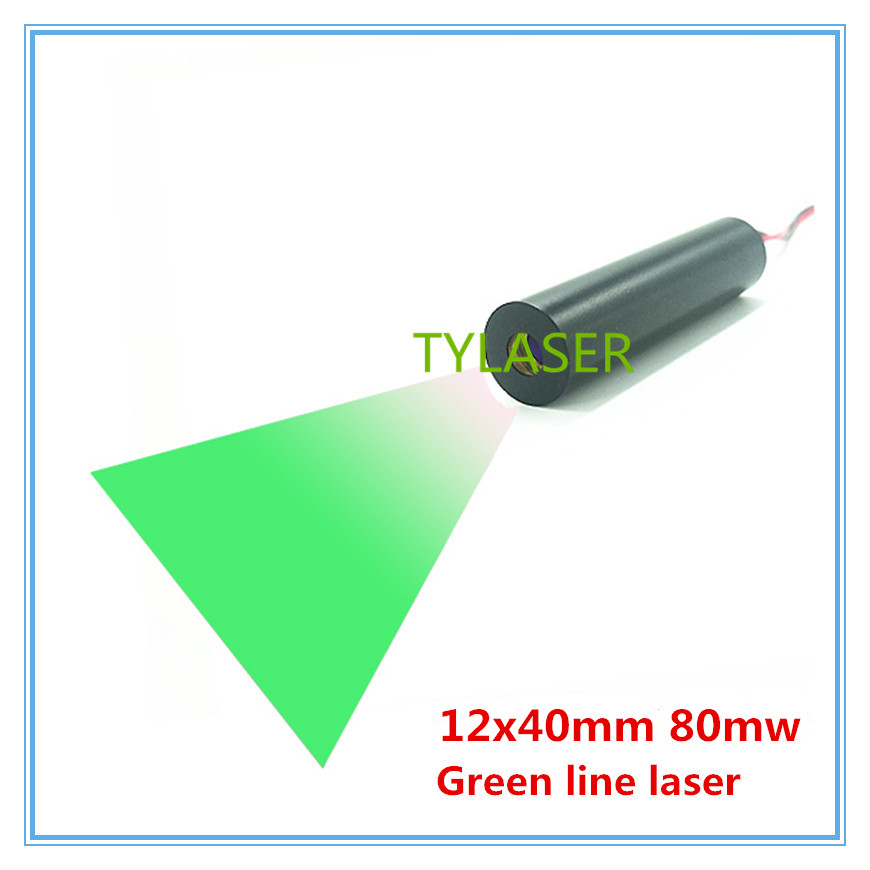 High End 12mm 520nm 80mW Green Line Laser Module Industrial Grade APC Driver TYLASERSHigh End 12mm 520nm 80mW Green Line Laser Module Industrial Grade APC Driver TYLASERS