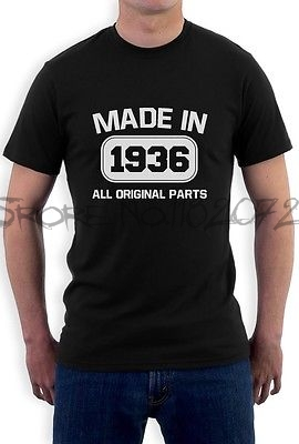 Brand T Shirts Male Summer Gift Tops 80th Birthday