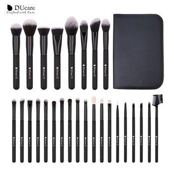 DUcare  Black Makeup brushes set Professional Natural goat hair brushes Foundation Powder Contour Eyeshadow make up brushes - 27PCS Brush with Bag, Poland
