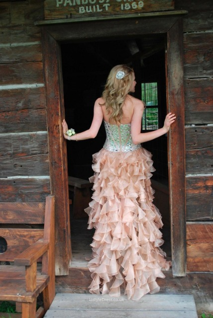 2015 High Low Prom Dresses Corset Bodice Sweetheart Sexy Country ...