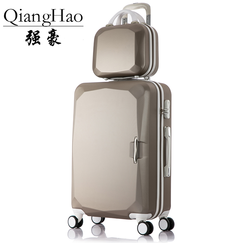 14Cosmetic bag 2pcs/sets kids travel suitcase with wheels trolley case rolling pink luggage set girls children's suitcases sale