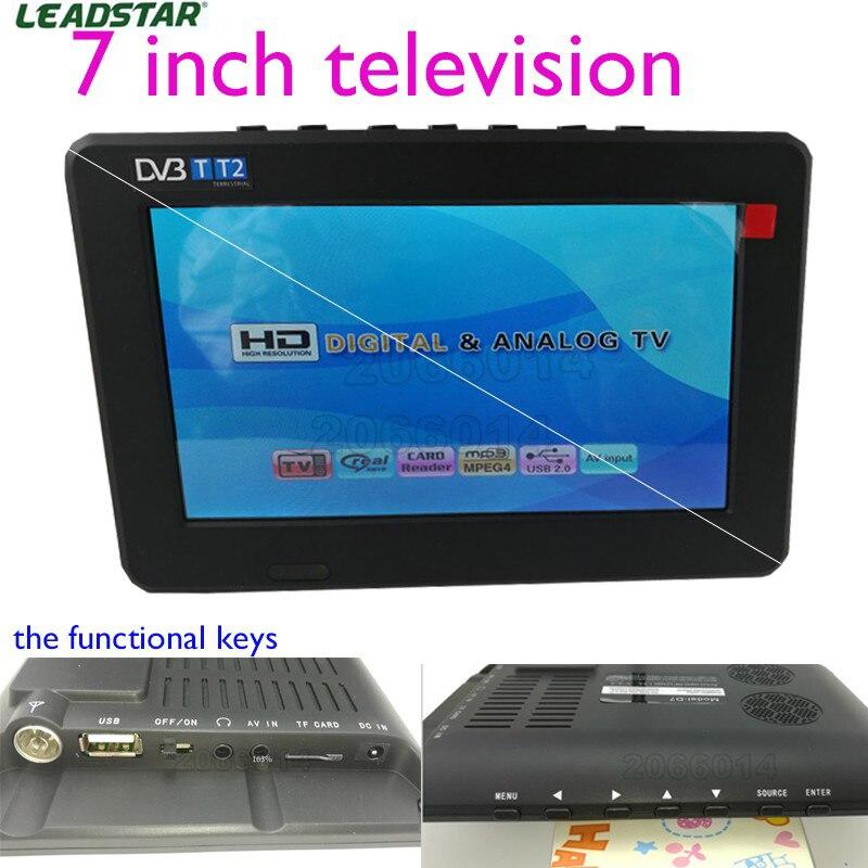 Leadstar 7 inch 16 9 TFT DVBT2 DVBT Digital Analog Mini led Portable Car TV all